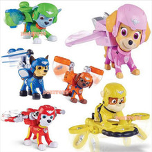 3.5 inch puppy patrol dog air rescue team+shield only loaded toys anime doll action figures canina car patrol toy patrulla gift
