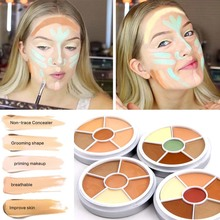 Professional 6 Color Camouflage Concealer For Dark Skin Full Cover Color Corrector Face contour cream kit concealer palette(China)