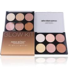MISS ROSE Face Bronzer Highlighter Contouring Glow kit Makeup Palette Dark Skin Shimmer Shine Highlighters A3(China)