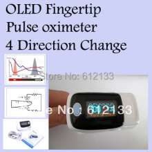 10pcs/ lot Fingertip Pulse Oximeter  SPO2 Oxygen Monitor O LED Screen Display Sound