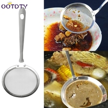 Colander Filter Oil Spoon Fine Mesh Colander Sifter Sieve Kitchen Vegetable Strainer Clip Stainless Steel