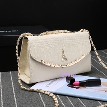 Free shipping, 2017 new Korean version women messenger bags, trend crocodile pattern messenger bags, chain shoulder handbags.