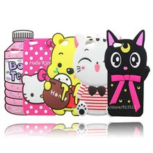 For OPPO F1s A59 Silicone Bear Stripe Cat Hello Kitty BOYS Tears 3D Silicone Mobile Phone Case Cover(China)