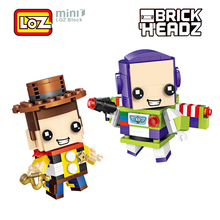 LOZ Toy Story Buzz Light year Woody Toys Model Mini Building Blocks Brick Heads Action Figure For Age 6+ Offical Authorized(China)