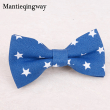 Mantieqingway Cartoon Children Bowtie for Boys Baby Bowties Striped/Plaid/Five-stars Pattern Kids Bow Ties Necktie Boutique Tie(China)