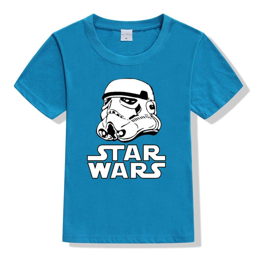 17 movies Star Wars children boys t shirt kids Star Wars Printed shirt kids clothes boys t-shirt top children clothing enfant 7