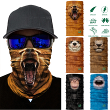 3D Seamless Animal Neck Warmer Tube Half Face Mask Halloween Headband Bandana Headwear Bicycle Head Scarf Snowboard Headscarf(China)