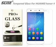 SIJIE Tempered Glass For HUAWEI honor 4 0.26mm Screen Protector front stronger 9H hardness thin discount with Retail Package
