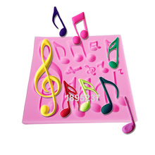 M272 HOT Beautiful And Classics Different Music Note Shape Silicone Fondant Cake Lace Mold Cake Mould, Bake Ware11*11*0.8cm