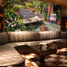 Ecological American style garden 3d wallpaper mural living room sofa background flowers and vegetable oil painting 3d wall paper
