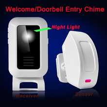 Great Promotion Wireless Door Chime for House/Shop/Factory/Company with Doorbell / Welcome / Burglar Alarm System / Night-Light(China)