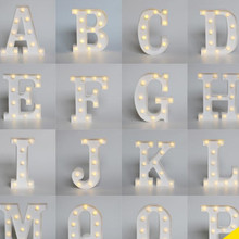 26 Letter Alphabet Night LED Lamp Grow Light Wall Decoration For Children Bedroom Wedding  for kids Toy Christmas Gifts