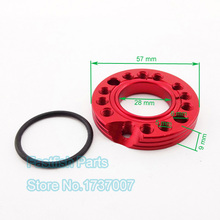 Red CNC Adjuster Carburetor Carb Spinner Plate 28mm Inlet Manifold Adaptor For Monkey Moped Scooter ATV Quads