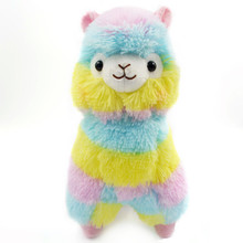 1pc High Quality 13CM Colorful Design Kawaii Alpaca Llama Arpakasso Soft Plush Toy Doll Gift Cute Toys For Kids(China)