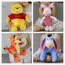 Free Shipping 1pcs mickey bear and Friend Kawaii Pink Piglet pig tigger Eeyore donkey stuffed gift toys boys girl's brithday