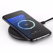 Portable 10W Wireless Charger For Mobile Phones Home Office Fast Charging Pad Built-In Cooling Fan USB Charge For Samsung F8
