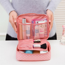 IUX Portable Toiletry Cosmetic Bag Waterproof Makeup Make Up Wash Organizer Zipper Storage Pouch Travel Kit Handbag Brand Design(China)
