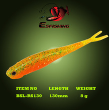 "Esfishing Lures Soft Plastic Bait Smell 6pcs 13cm/8g Real Shad 5""3D Eye Leurre Souple Wobblers For Trolling Crankbait Carp(China)"
