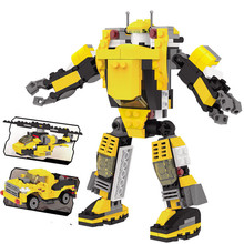 3 in 1 robots building block 229 pcs ABS small particles lego toy challenger assemble toy boy gift hot sell big size(China)