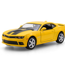 New Licensed Diecast Meta Car Model For The Chevrolet Camaro Alloy Model Pull Back Toys Car Matte  Collection 4.5*13*3cm