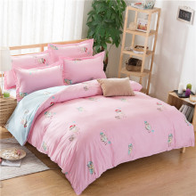 Brief Style Soft Bedding Set 4/3 Pieces High Quality Fabric Bedding Cover Home Room Bedding Decoration Bedding Gift K2016111602(China)