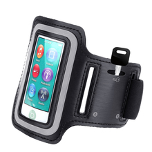 Black Running Arm Band Sport Leather Armband Case Cover for Apple iPod Touch Nano Mp3 Mp4(China)