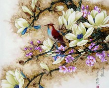 Frameless picture by numbers hand painted DIY digital oil painting on Canvas Home Decor Wall Poster Gift Birds and Flowers(China)