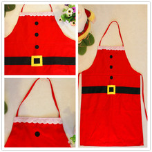 Adult&Kids Christmas Cooking Apron Novelty Santa Claus Dinner Party Apron(China)