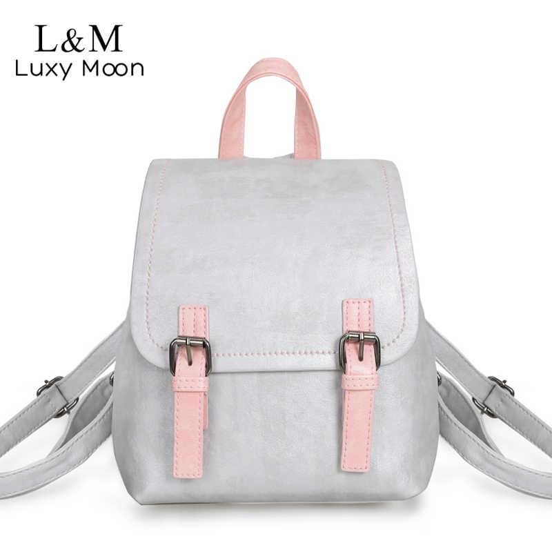 299a1c593ffb Женский рюкзак маленькая черная кожаная сумка на плечо для девочек- подростков простые розовые рюкзаки модные