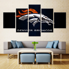 5 Panel Denver Broncos Sport Team Deco Fans Posters Oil Painting On Canvas Modern Home Pictures Prints Decor Living Room Bedroom