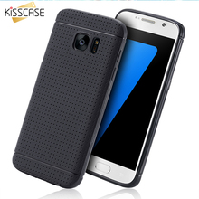 KISSCASE Soft Silicone Case For Samsung Galaxy S7 G9300 Edge Case For iPhone 6 7 6s Plus 5S SE Cellular Network Flexible Cover(China)