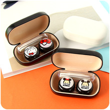 Cute Cartoon Hello Kitty Doraemon Travel Necessity Glasses Box/Case for Contact Lenses Eyes Care Kit Holder Container Girls Gift(China)