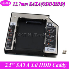 Universal SATA 3.0 2nd HDD Caddy 12.7mm for 2.5 Inch SSD Case Hard Disk Drive Enclosure for Laptop CD/DVD-ROM ODD Optical Bay