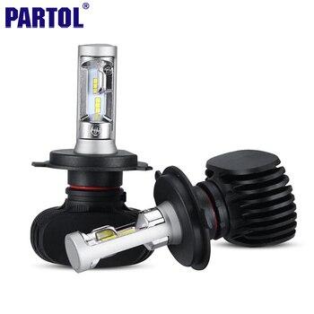 Partol 50 W 8000LM H4 H13 H7 H11 9005 9006 LED Phare De Voiture ampoules CREE Puces CSP LED Phares Tout en un Tête Lampe Avant lumière