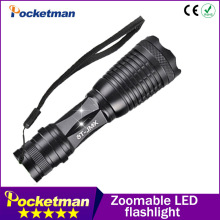 High-quality LED  Flashlight CREE XM-L T6 4000LM lumens  e17 high power led torch T6 lantern zoomable Waterproof flashlight