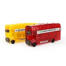 hot sale Plastic toys diy 3d three-dimensional crystal puzzle London buses   Children's educational building blocks assembled