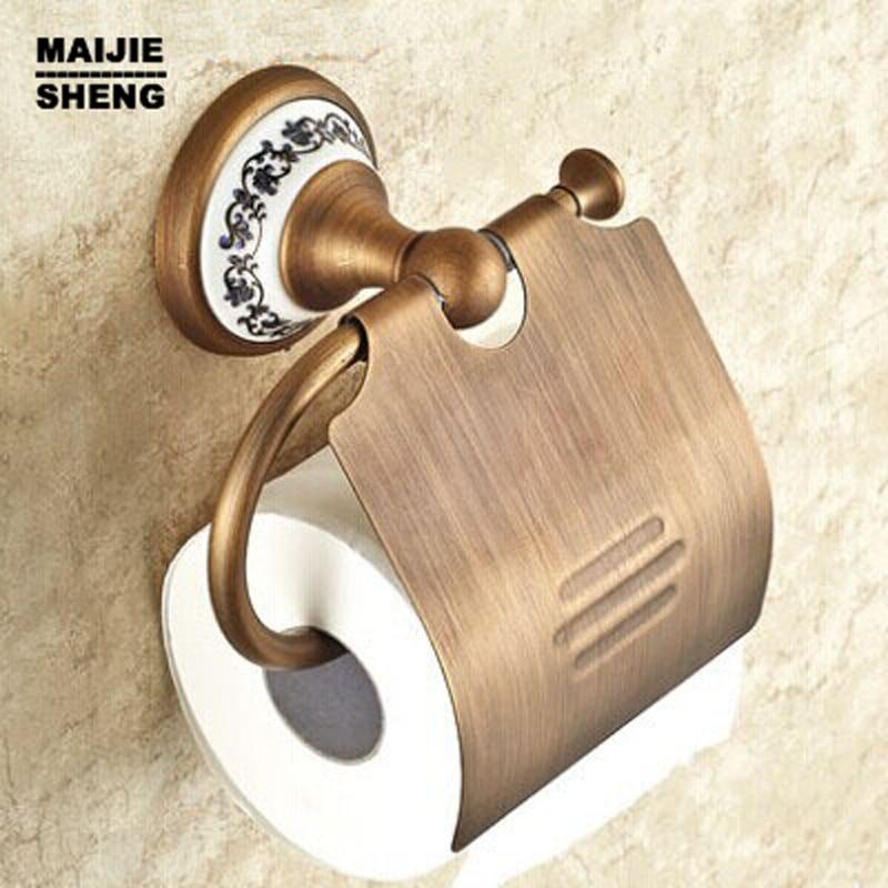 European toilet paper box toilet accessories Paper plane All copper paper towel rack Archaize paper holder<br>