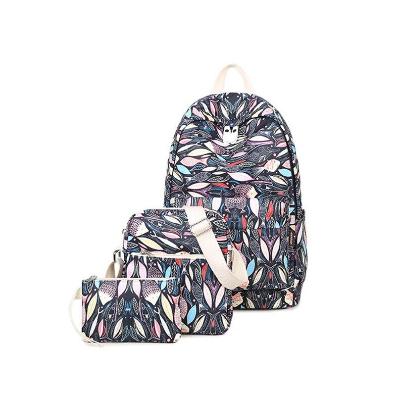 2017 Womens Fish Printing Canvas Traveling Bag Shoulder School Backpacks Fashion Free Shipping High Quality V409<br><br>Aliexpress
