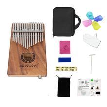 Portable 17-key Kalimba Thumb Piano Mbira Hawaiian Koa Wood Built-in Pickup EQ With 6.35mm Speaker Interface Musical Gift