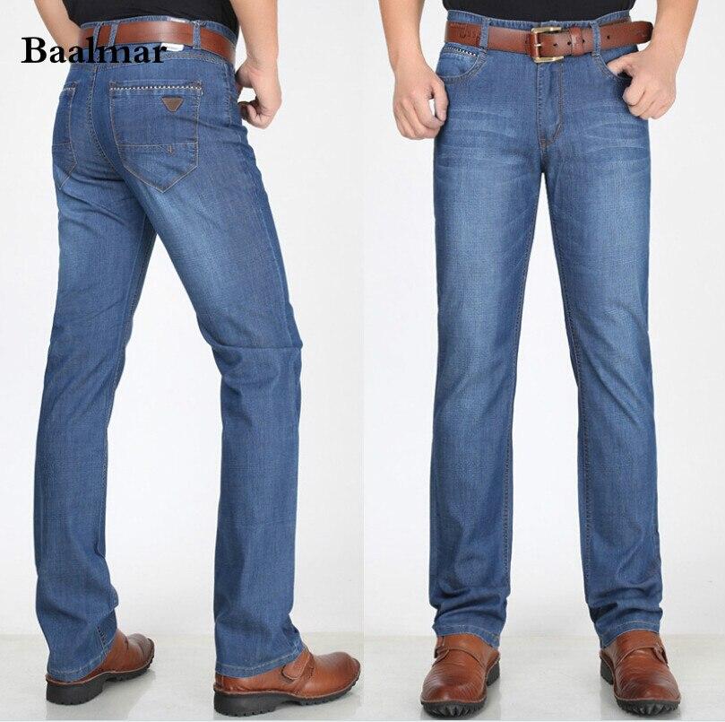 Baalmar spring and Summer Mens clothing male Middle-aged Classical jeans Mid waist jeans Mens Denim pants loose Big SizeÎäåæäà è àêñåññóàðû<br><br>