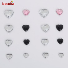 8*8-16*16mm Multi Size Crystal heart Rhinestones 2 Holes  Acrylic Sew On Rhinestone Jewelry For Shoes Dress Clothes Decoration