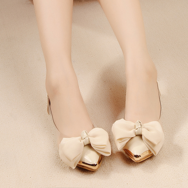 2015 Spring Autumn Sweet Flat Shoes Women Ballet Flats Pointed Toe With Big Bowtie Shoes For Women Casual Shoes zapatos mujer<br><br>Aliexpress