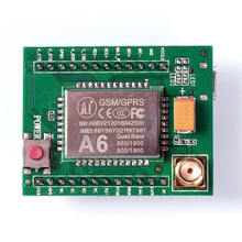 A6 GSM GPRS Module Quad Band SMS Voice 850MHz 900MHz 1800MHz 1900MHZ with Antenna for Arduino(China)
