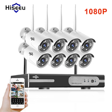 1080P Wireless CCTV System 2M 8ch HD wi-fi NVR kit Outdoor IR Night Vision IP Wifi Camera Security System Surveillance Hiseeu(China)
