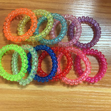 30Pcs Scrunchy Hair Accessories For Women Elastic Telephone Wire Gum Springs Hair Ring Hair Rope Tie Gum Girls Ponytail Holders