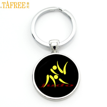 TAFREE Brand simple design Judo Karate sports keychain high quality handmade women men fashion key chain ring jewelry gift SP589(China)