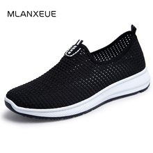 MLANXEUE 패션 숨 Mesh Men Shoes Non-slip Rubber 솔 Man Shoes 2018 Summer 가 Plus Size 39- 44 Male Black Shoes(China)
