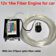 16W RGBW engine 12V 270pcs*0.75mm*2M LED Fiber optic light Ceiling Kit lighting+RF 24key Remote for car roof star lights x20pcs(China)