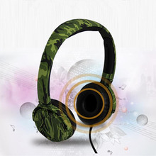 Hot Sale Army Green Outdoor Sport Music Over-Ear Headset Headphone With Microphone Earphone For Mobile Phone MP3(China)