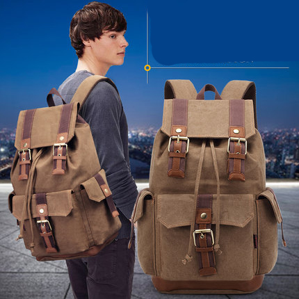 2017 new mens rucksack Men travel rucksack Large capacity leisure bags Mens backpack Canvas Backpack Retro rucksack<br><br>Aliexpress